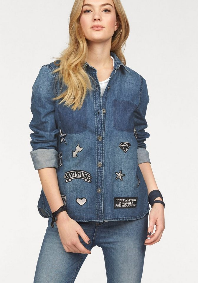 Only Jeansbluse »BECH« in medium-blue-denim