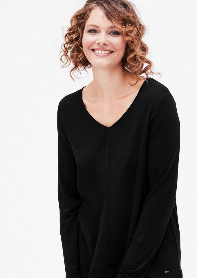 TRIANGLE Langarmshirt im Lagen-Look in black
