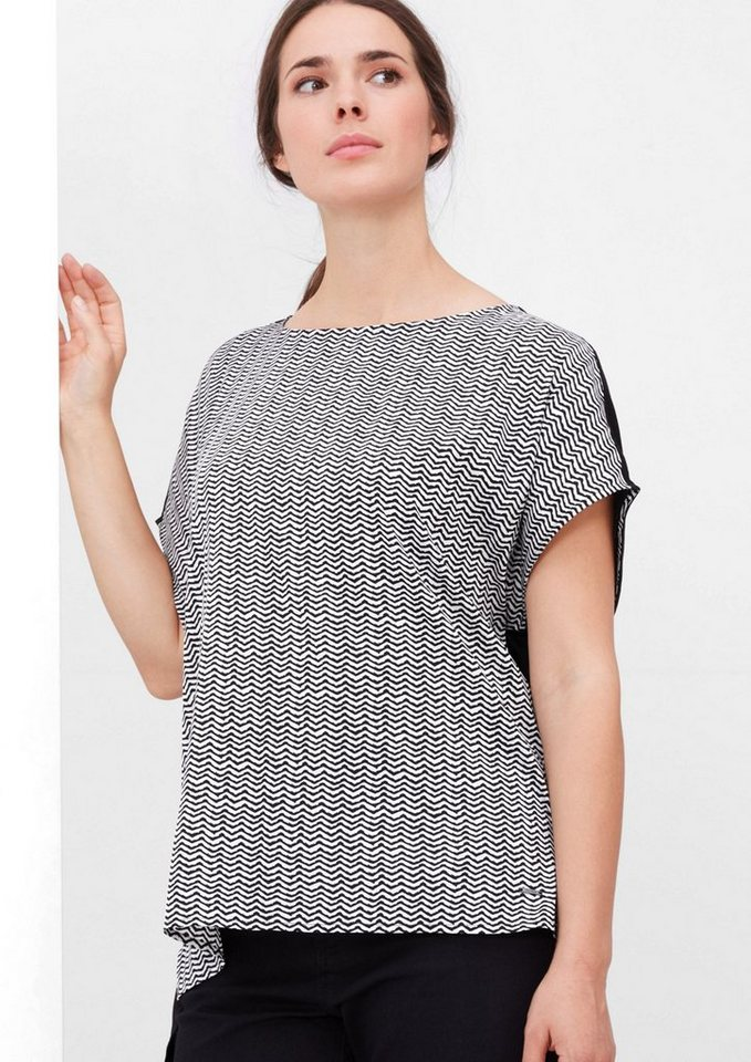 TRIANGLE Gemustertes Blusenshirt in black AOP