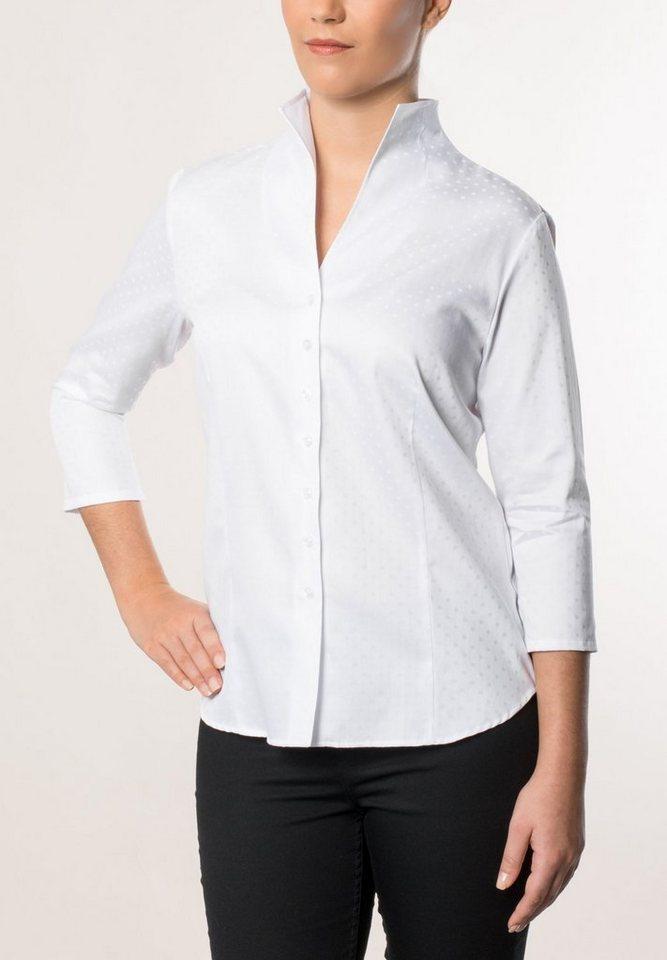 ETERNA 3/4-Arm Bluse »COMFORT FIT« in weiß