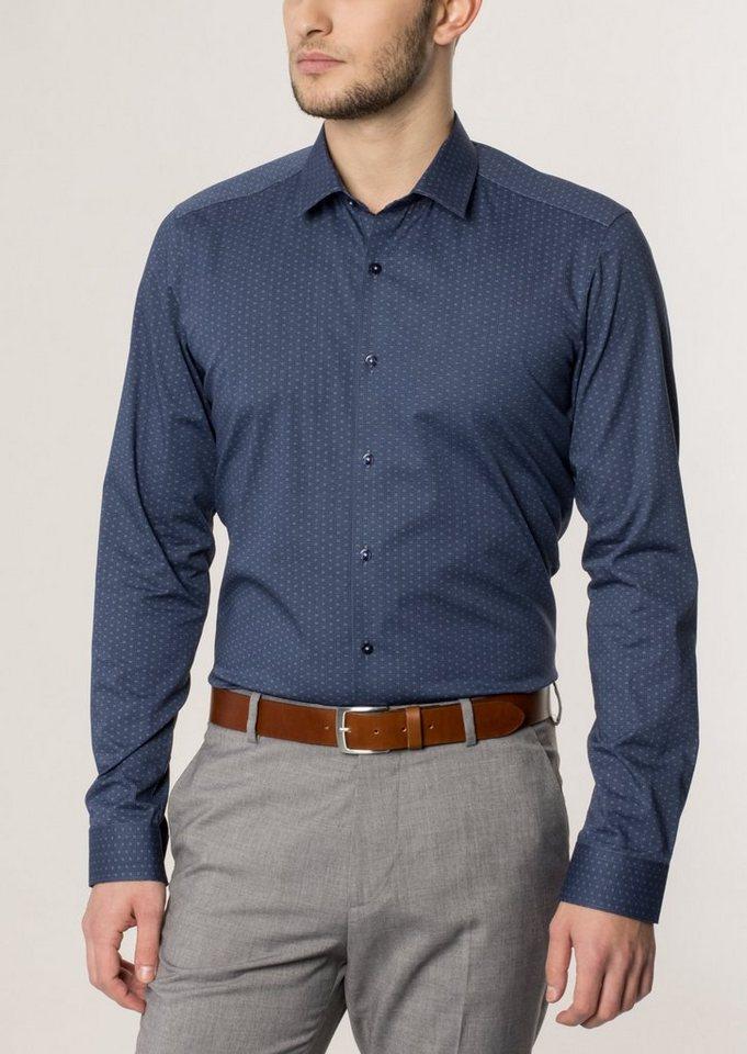 ETERNA Langarm Hemd »SUPER-SLIM« in blau