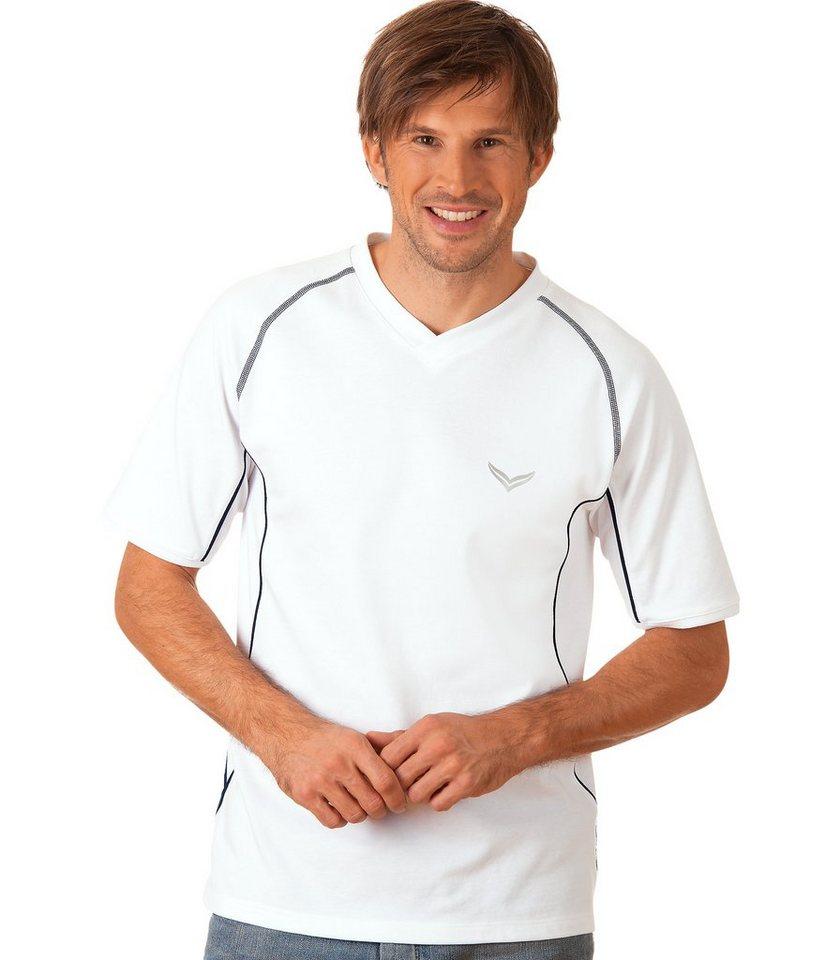 TRIGEMA Sport-Shirt Funktions-Piqué in weiss