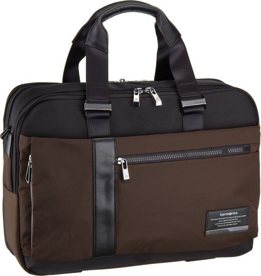 """Samsonite Openroad Bailhandle 15.6"""" Expandable in Chestnut Brown"""