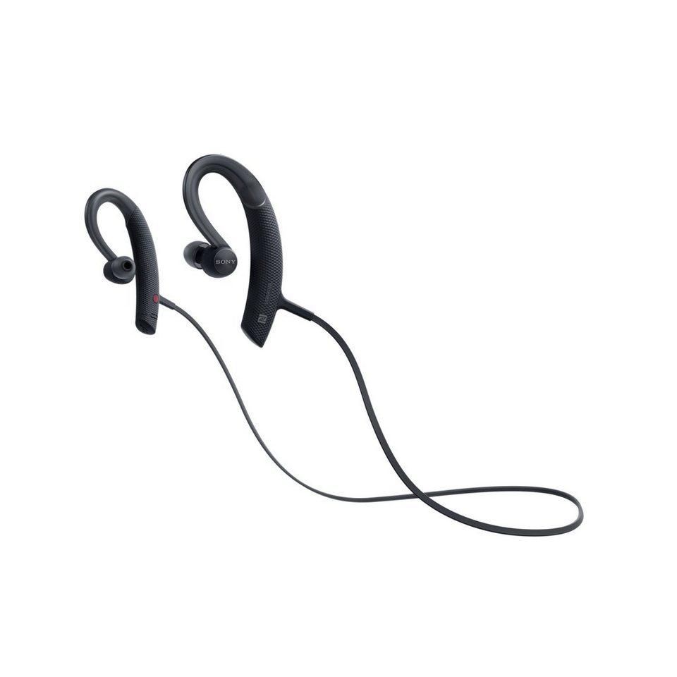 Sony kabelloser Sport-Kopfhörer (Spritzwassergeschützt, Bluetooth) »MDR XB80BS« in schwarz