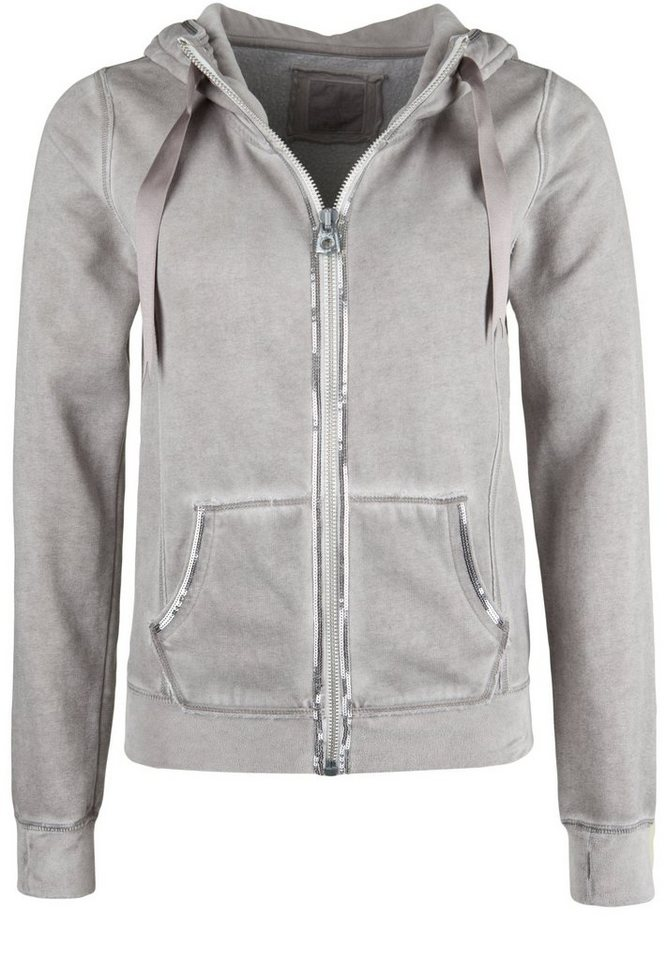 Better Rich Kapuzensweatjacke »SHELBY PAILLETTE VELVET« in moon