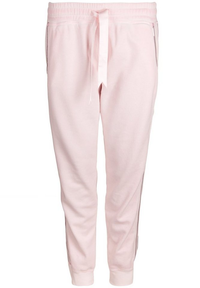 Better Rich Sweathose »PANT HOME PAILLETTE« in pearl