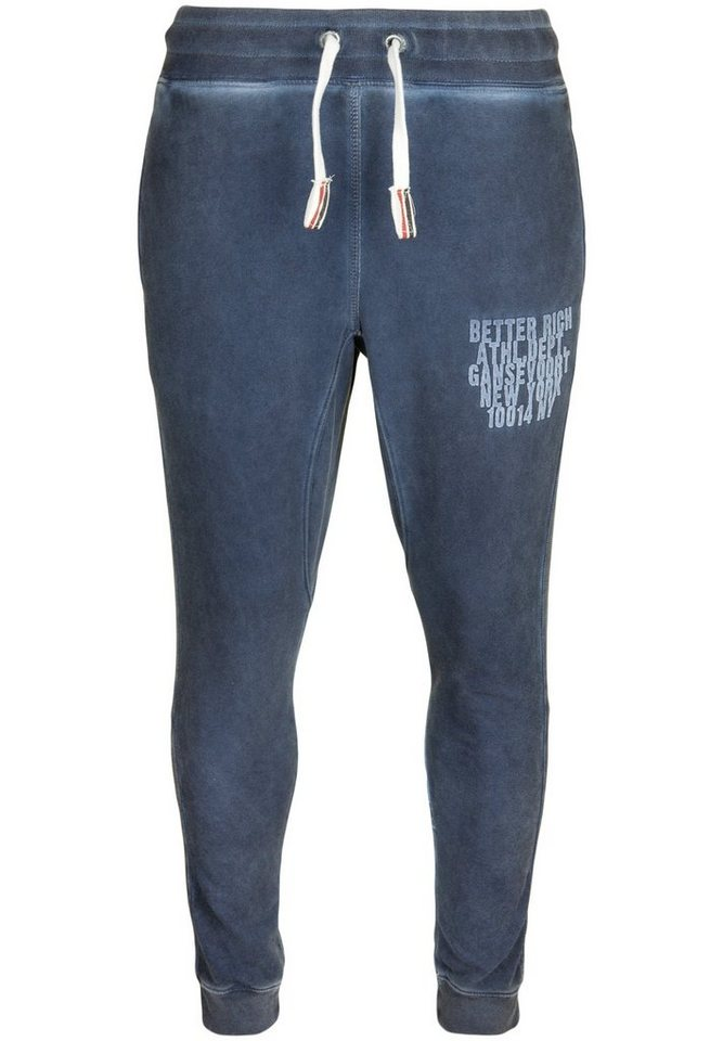 Better Rich Sweathose »PANT ATHL. DEPT.« in blue print