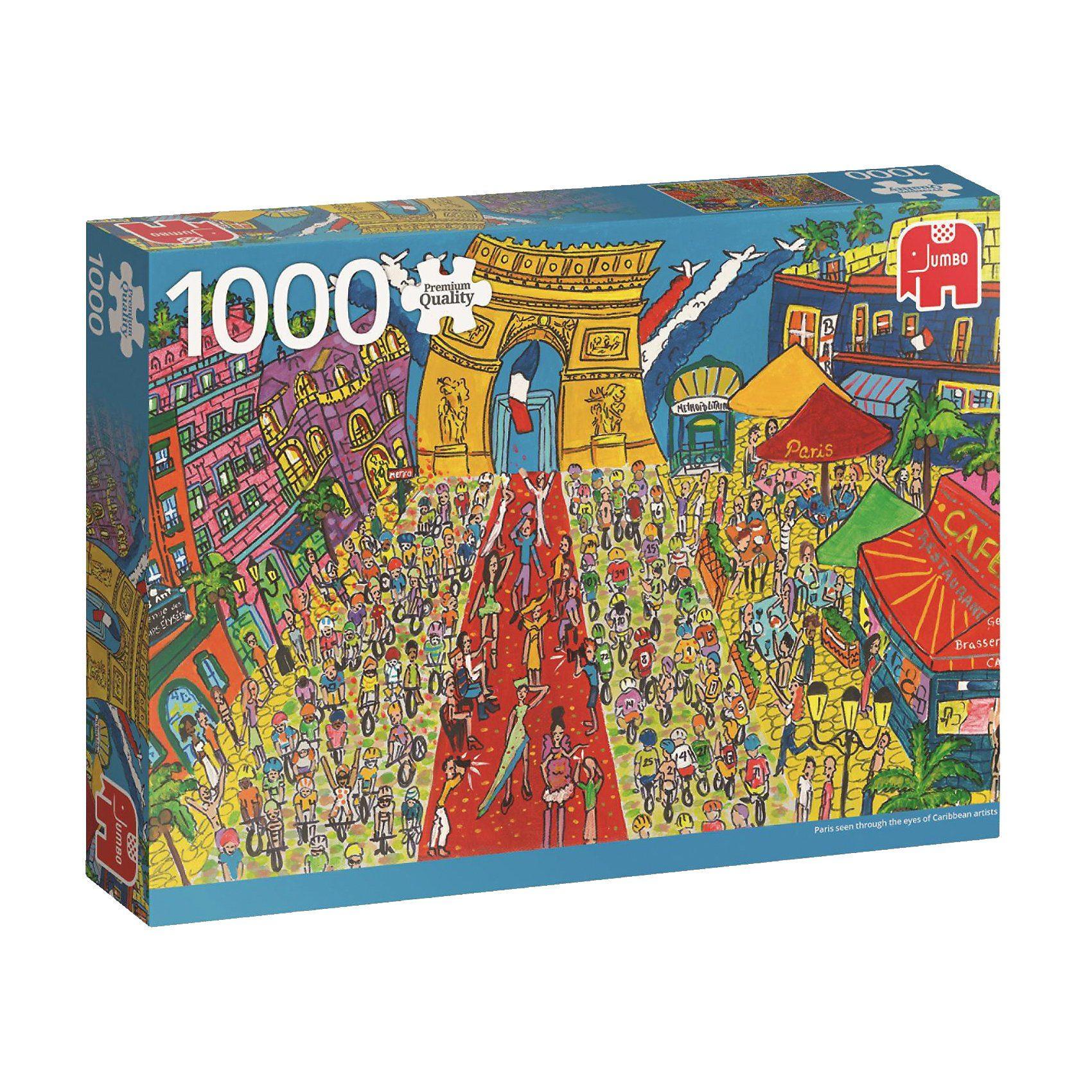 Jumbo Puzzle 1000 Teile - Sightseeing Arc de Triomphe, Paris