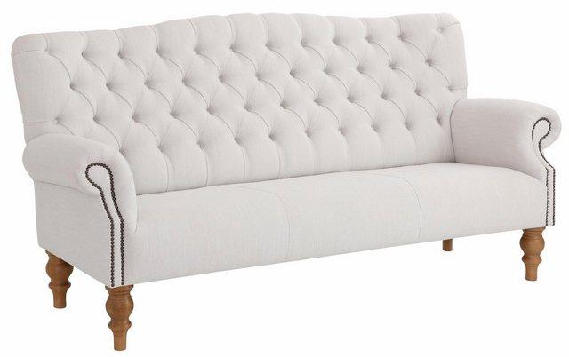 Sofas - Home affaire 3 Sitzer »Lord«, mit echter Chesterfield Knopfheftung und Ziernägeln  - Onlineshop OTTO