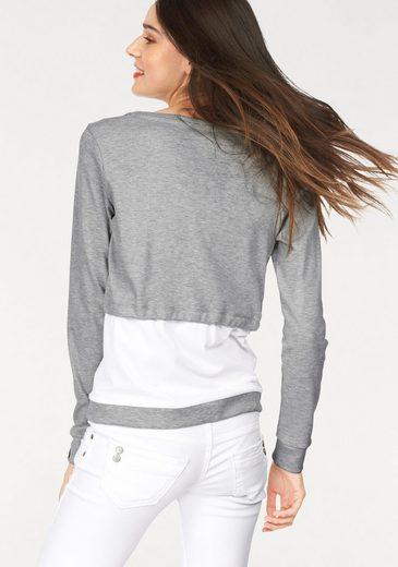 Sweat-shirt Kangourous, De Couleur Contrastée