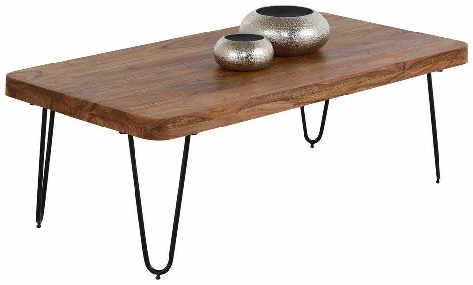 home affaire couchtisch surya mit massivholz tischplatte online kaufen otto. Black Bedroom Furniture Sets. Home Design Ideas
