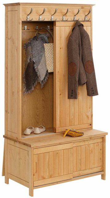 Garderoben Sets - Home affaire Kompaktgarderobe »Mia« aus massiver Kiefer  - Onlineshop OTTO