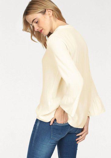 Please Jeans Schluppenbluse, mit Volantärmeln