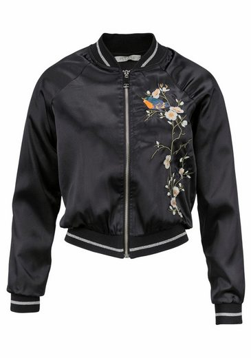 Please Jeans Bomberjacke, mit trendiger Stickerei
