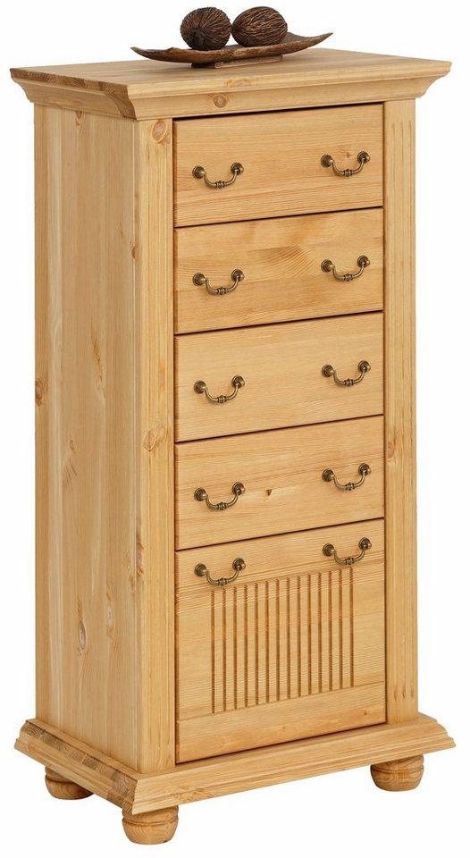 home affaire schubladenkommode irma mit dekorativen fr sungen 55 cm breit online kaufen otto. Black Bedroom Furniture Sets. Home Design Ideas