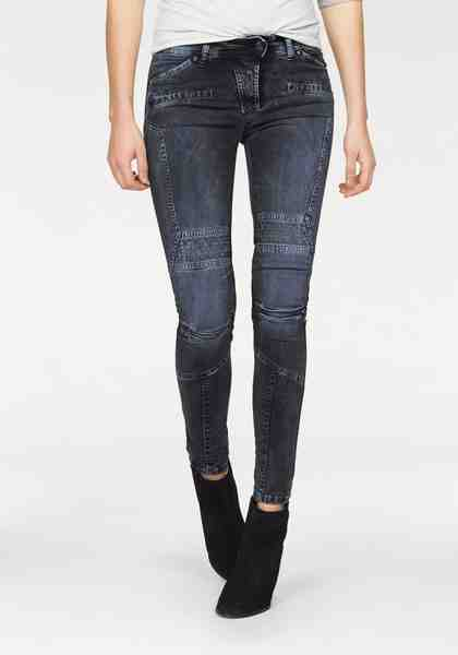 Please Jeans Bikerjeans »P45G«, in auffälliger Washed-Optik