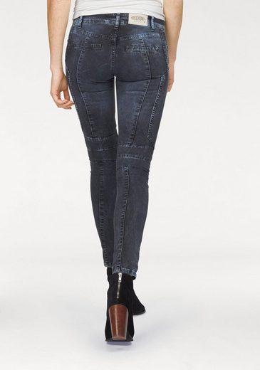 Please Jeans Bikerjeans P45G, in auffälliger Washed-Optik