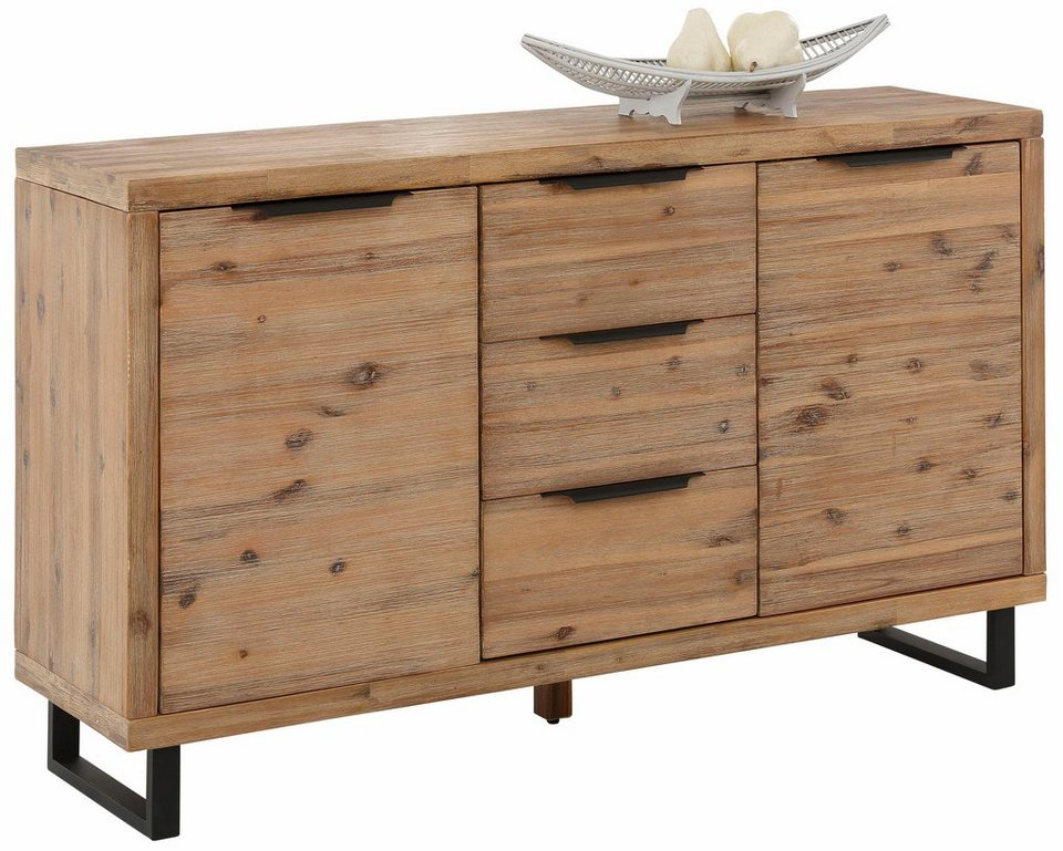 Home affaire sideboard viby aus massivem akazienholz for Sideboard 4 meter lang