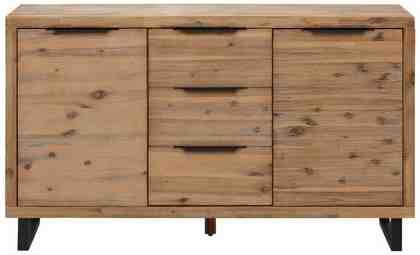 Home affaire Sideboard »Viby«, aus massivem Akazienholz, klein Breite 140 cm