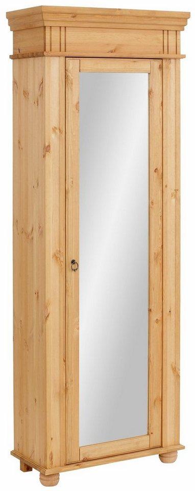 Home affaire Schuhschrank »München«, mit dekorativen Fräsungen, Breite 69 cm in gelaugt/geölt