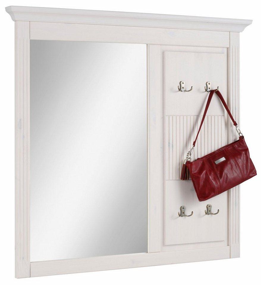 home affaire spiegel irma mit garderobenpaneel aus. Black Bedroom Furniture Sets. Home Design Ideas