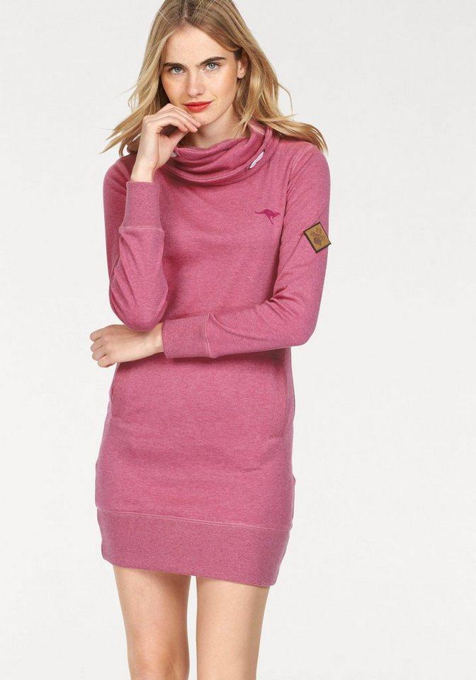 KangaROOS Longsweatshirt mit weitem Schalkragen in pink-meliert