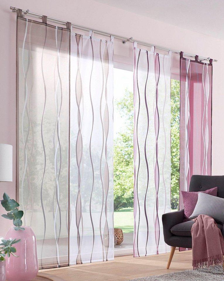 schiebegardine dimona my home schlaufen 2 st ck. Black Bedroom Furniture Sets. Home Design Ideas