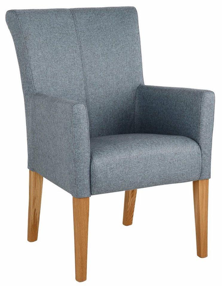 Home affaire Armlehnstuhl »King« bezogen mit Web- oder Strukturstoff ...