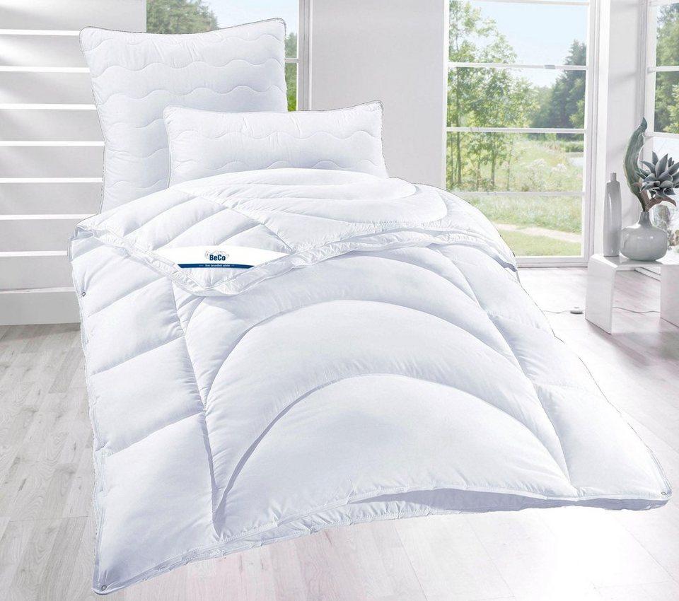 set kunstfaserbettdecken kopfkissen medibett beco 4 jahreszeiten online kaufen otto. Black Bedroom Furniture Sets. Home Design Ideas