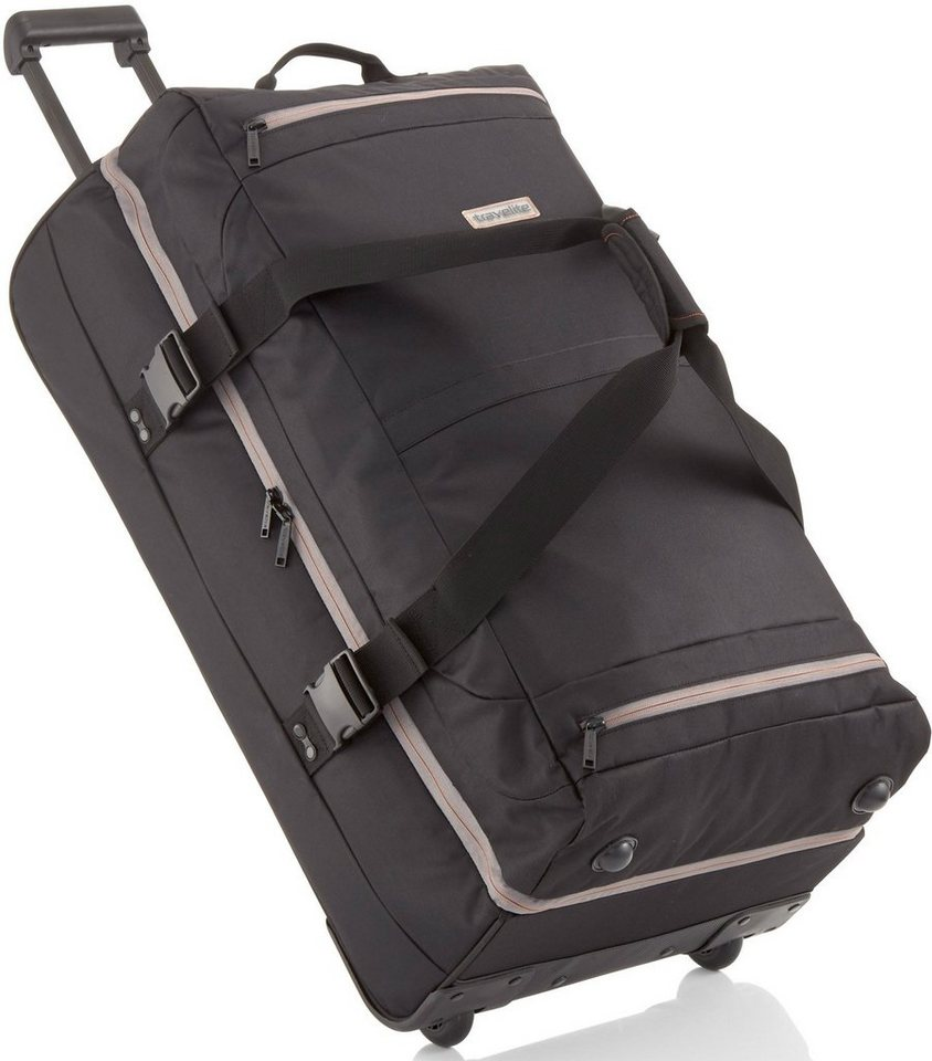 travelite reisetasche doppeldecker basics mit 2 rollen. Black Bedroom Furniture Sets. Home Design Ideas