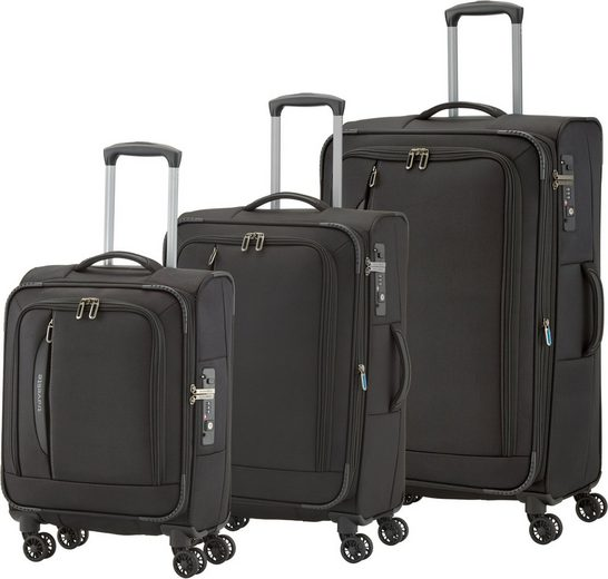 travelite Trolleyset »Crosslite«, 4 Rollen, (Set, 3 tlg)