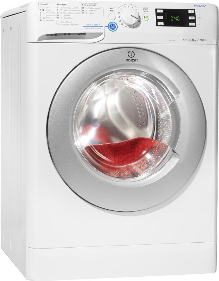 Indesit Waschmaschine XWE 81683X WSSS (DE), A+++, 8 kg, 1600 U/Min in weiß