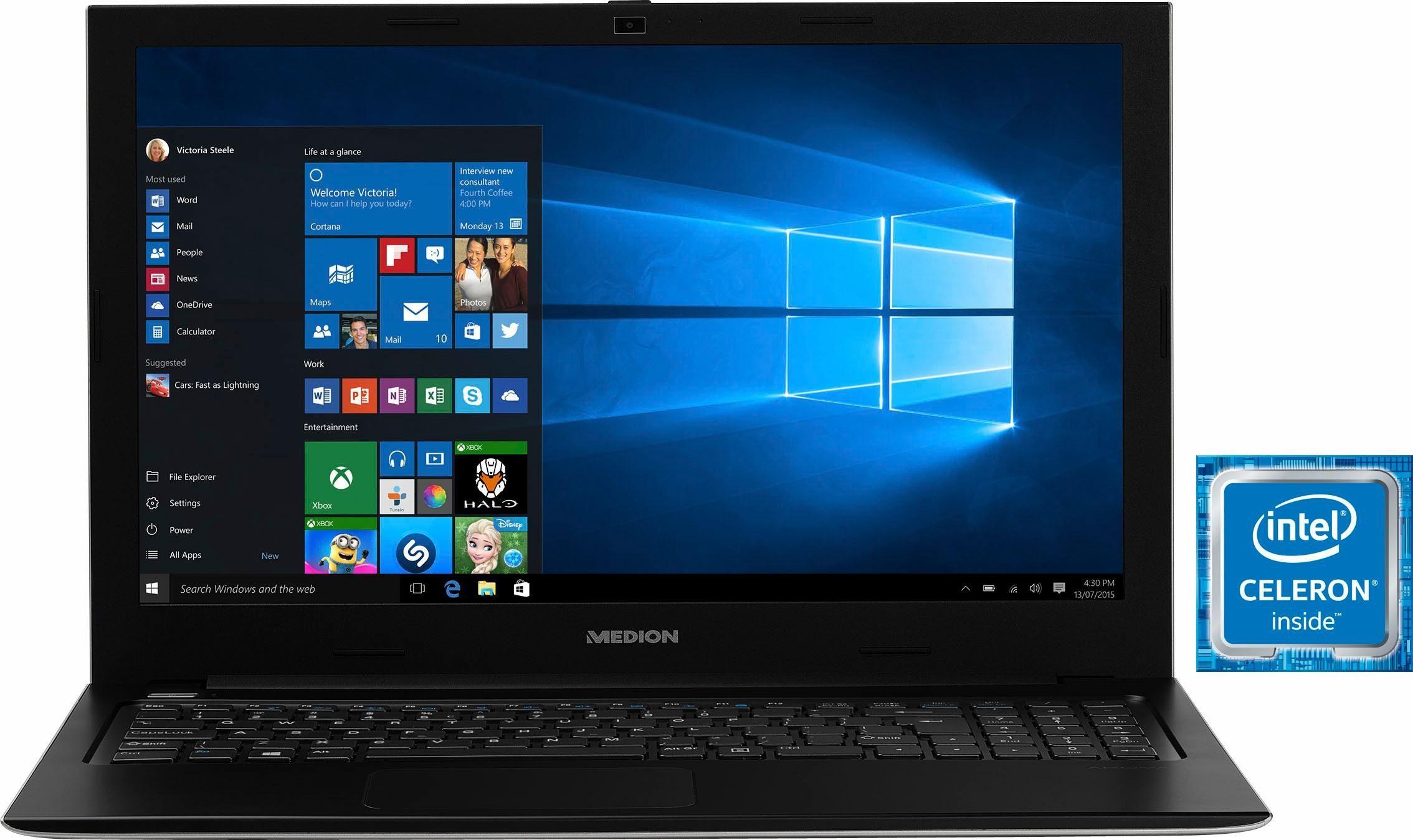 Medion® MD60258 S6219 DE Notebook, Intel® Celeron™, 39,6 cm (15,6 Zoll), 532 GB Speicher