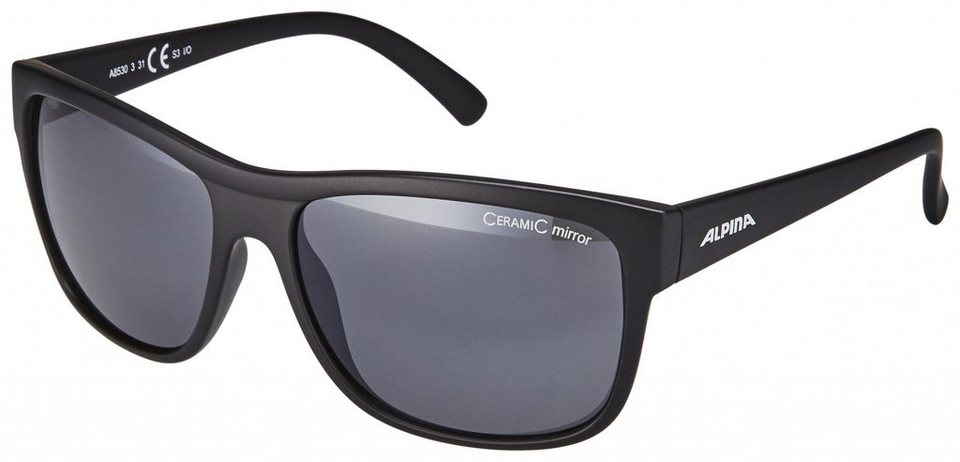 Alpina Radsportbrille »Heiny« in schwarz