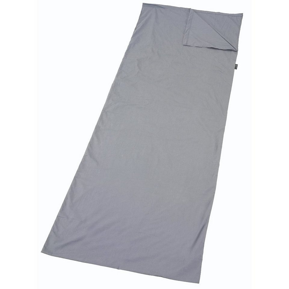 easy camp Schlafsack »Travel Sheet Rectangle« in grau