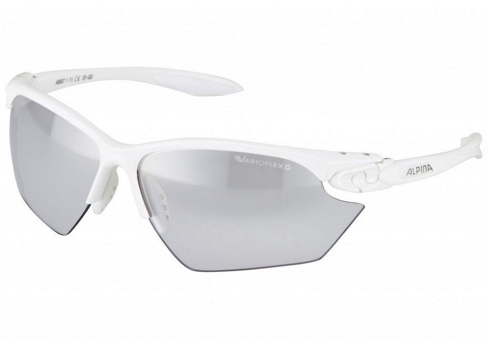 Alpina Radsportbrille »Twist Four S VL+« in weiß