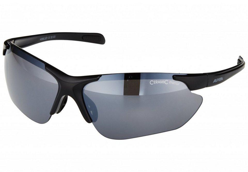 Alpina Radsportbrille »Jalix« in schwarz