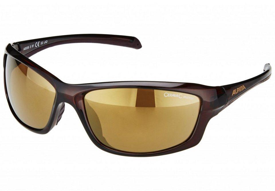 Alpina Radsportbrille »Dyfer« in braun