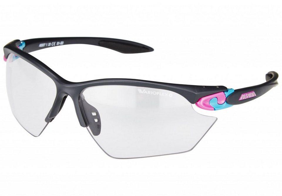 Alpina Radsportbrille »Twist Four S VL+« in schwarz