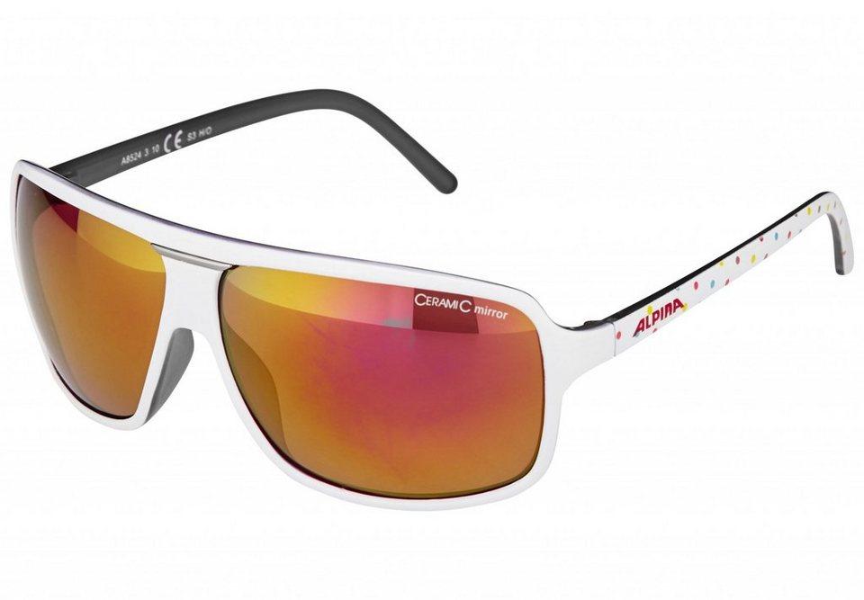 Alpina Radsportbrille »Manja« in weiß