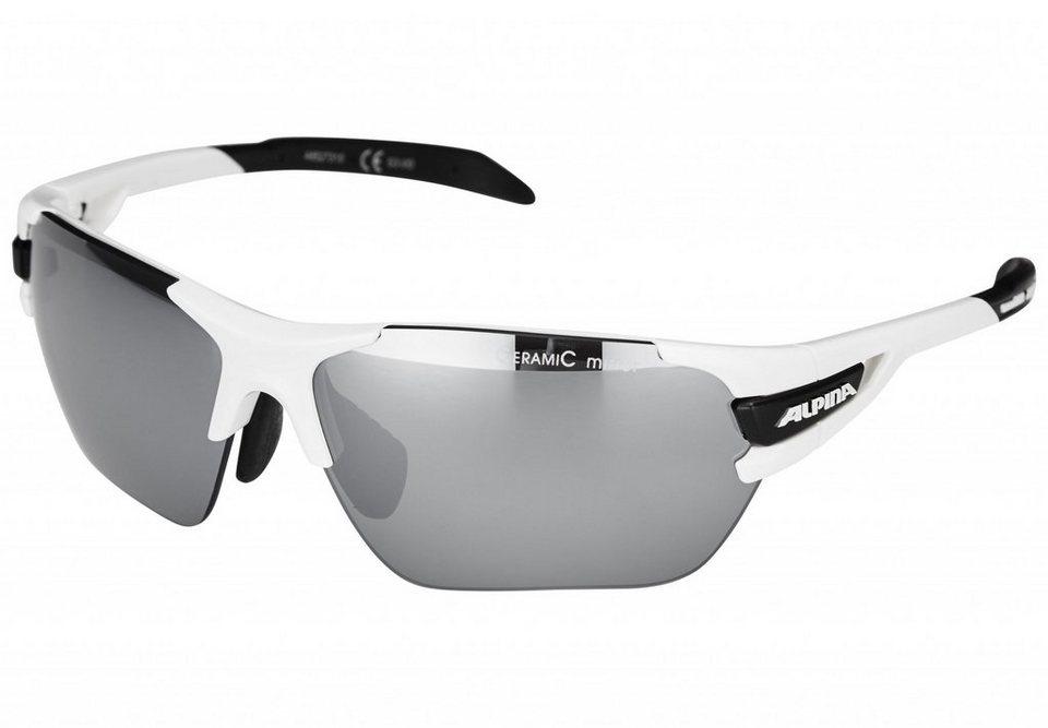 Alpina Radsportbrille »Tri-Scray S« in weiß
