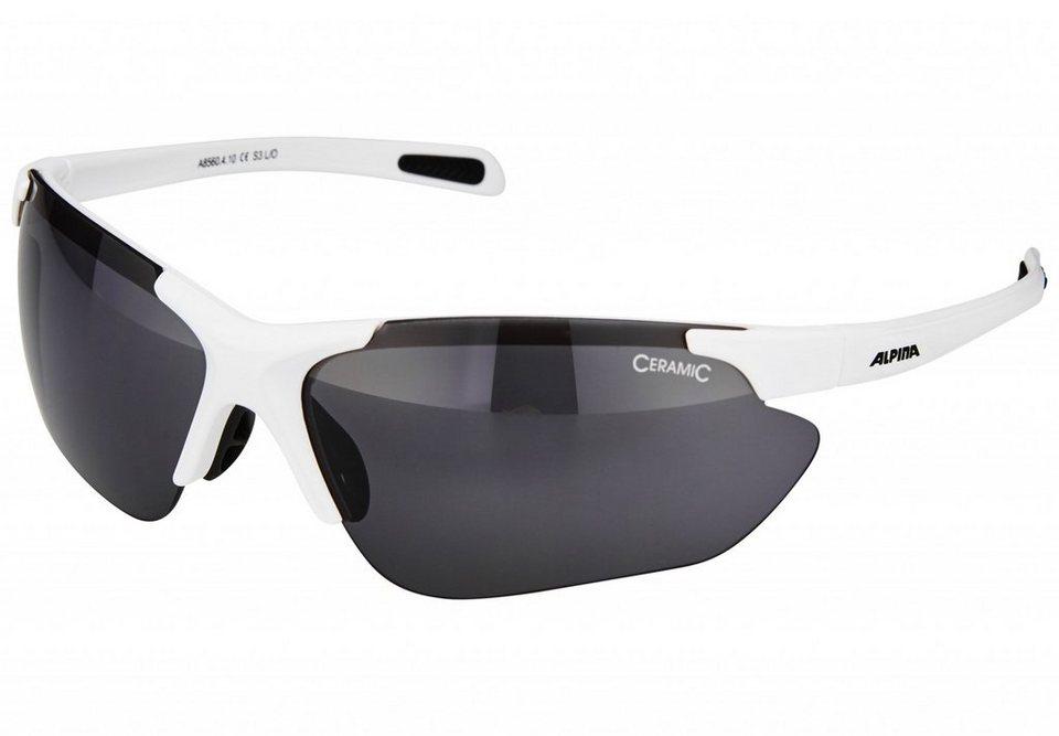 Alpina Radsportbrille »Jalix« in weiß