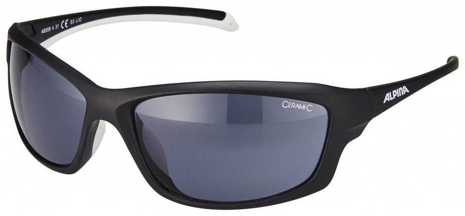 Alpina Radsportbrille »Dyfer« in schwarz