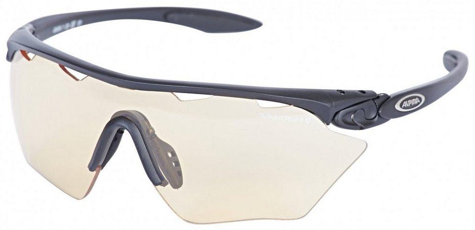 Alpina Radsportbrille »Twist Four Shield VL+« in schwarz