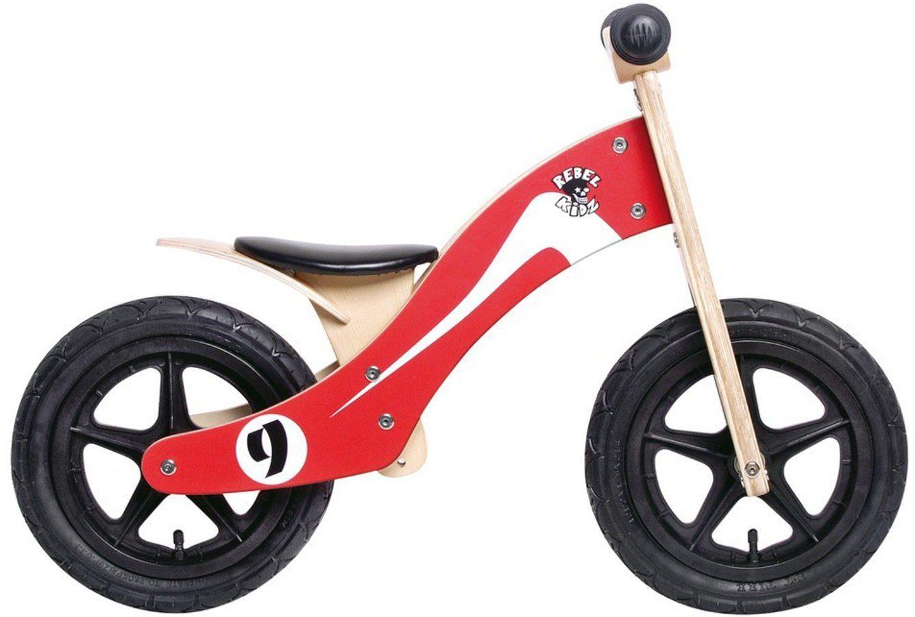 "Rebel Kidz Kinderfahrzeug »Wood Air Lernlaufrad 12"" Retro Racer«"