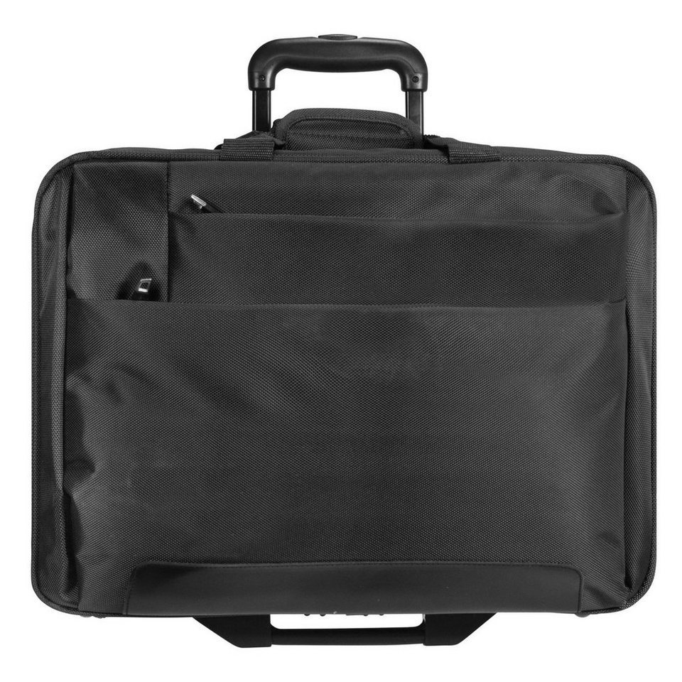 Dermata Dermata 2-Rollen Trolley Business 44,5 cm Laptopfach in schwarz