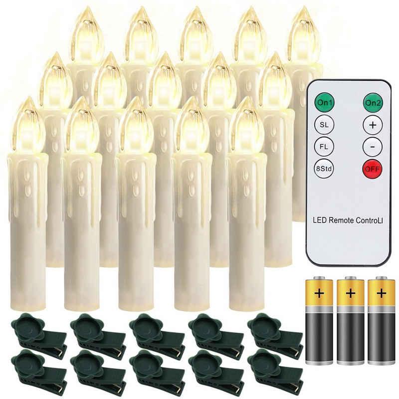 Einfeben LED-Christbaumkerzen »10-100x LED Weihnachtskerzen kabellose Weihnachtsbeleuchtung Kerzen Party Warmweiß Mit Batterie«