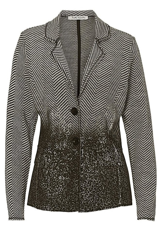 Betty Barclay Blazer in Grau/Schwarz - Bunt