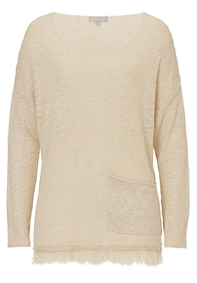 Betty&Co Strickpullover in Sandshell - Braun
