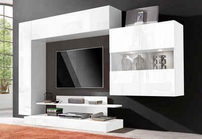 Wohnwand weiß hochglanz otto  Weißer Wohnzimmerschrank online kaufen | OTTO